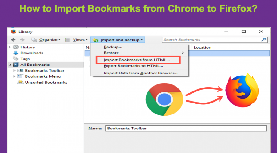 How to Import Bookmarks from Chrome to Firefox?