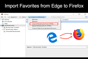 Import Favorites from Edge to Firefox
