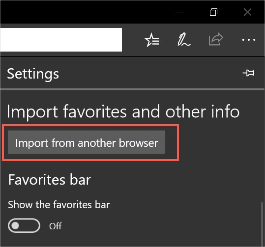 Import from Another Browser