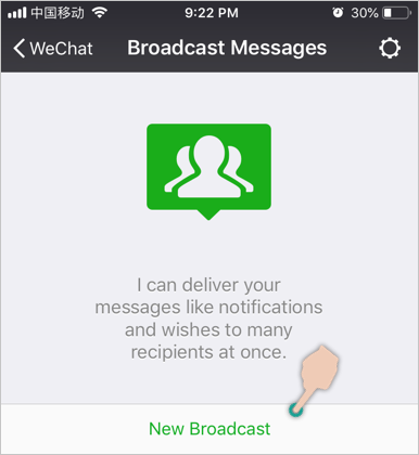 New Broadcast Message