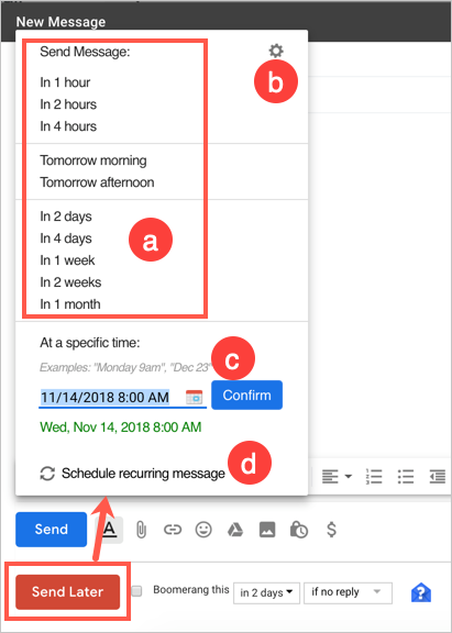 Schedule Emails in Gmail