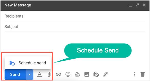 Schedule Send Option in Gmail