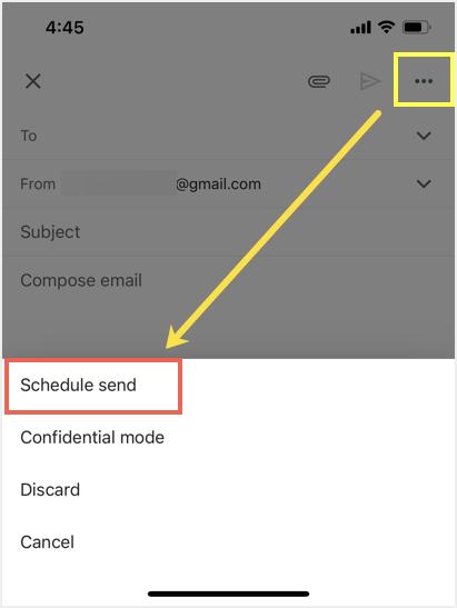 Schedule Send in Gmail Mobile App