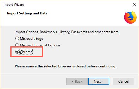 Select Chrome
