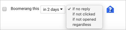 Setup Email Return Condition