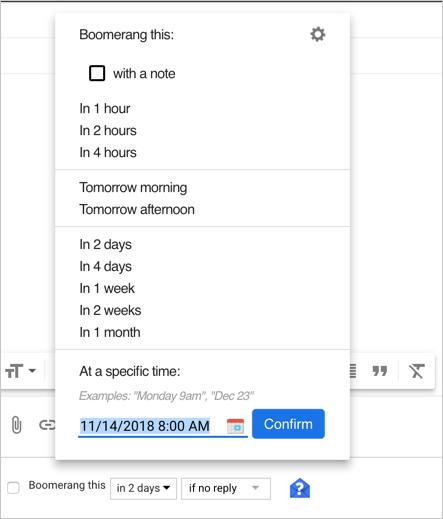Setup Email Return Days