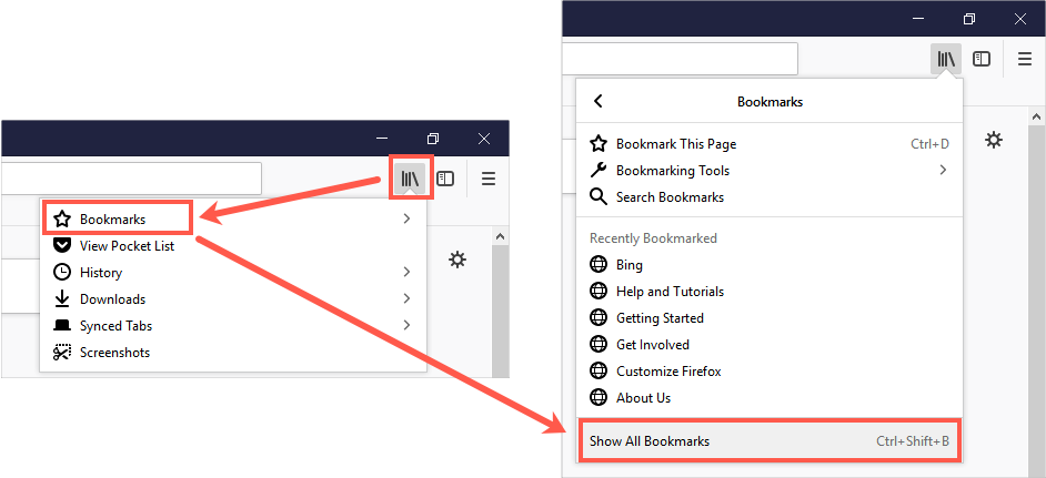 Show All Bookmarks in Firefox