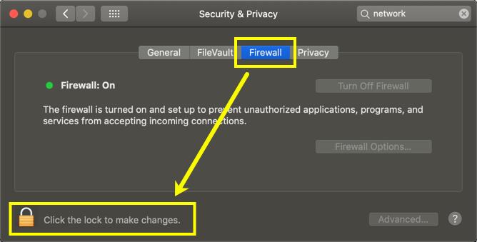 Unlock Preferences in Mac