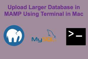Upload Larger Database in MAMP Using Terminal in Mac