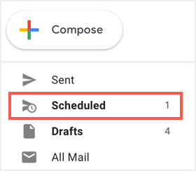 View Scheduled Emails
