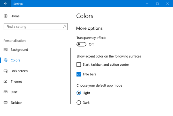 Windows 10 Light Mode
