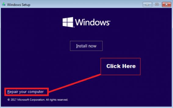 Windows Setup Repair Option