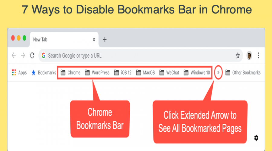 7 Ways to Disable Bookmarks Bar in Chrome