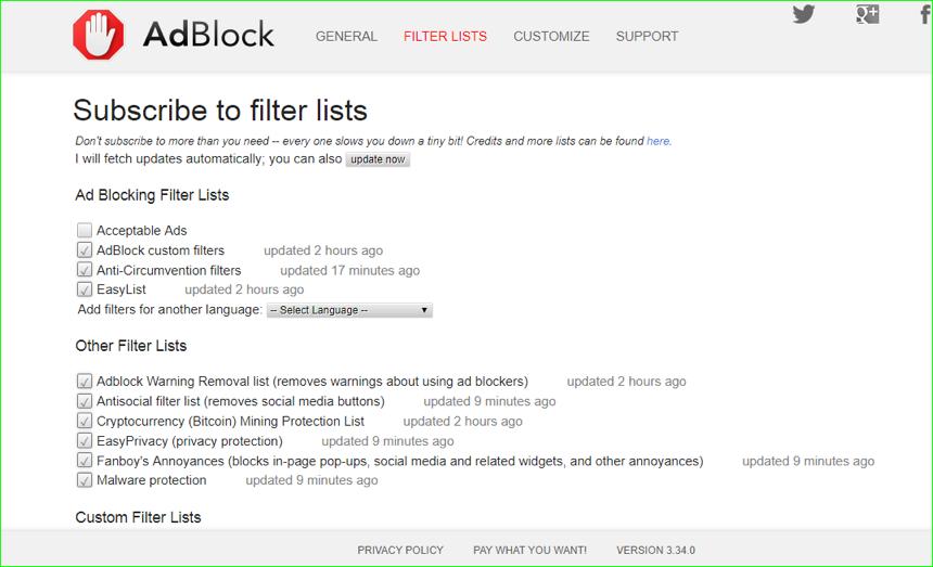 AdBlock Filter List