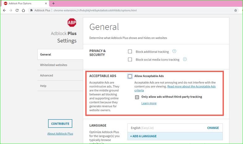 AdBlock Plus Customization