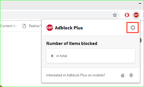 AdBlock Plus Settings