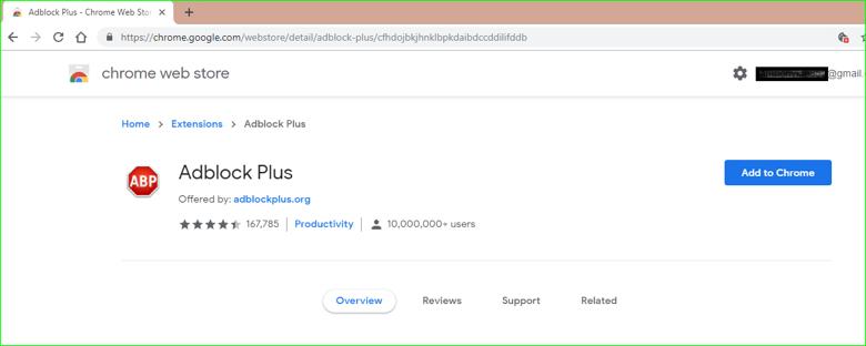 Ad Adblock Plus in Chrome