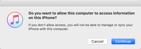 Allow Accessing iPhone