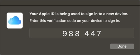 Apple ID Two Factor Verification Code