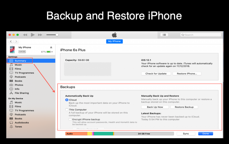 Backup and Restore iPhone