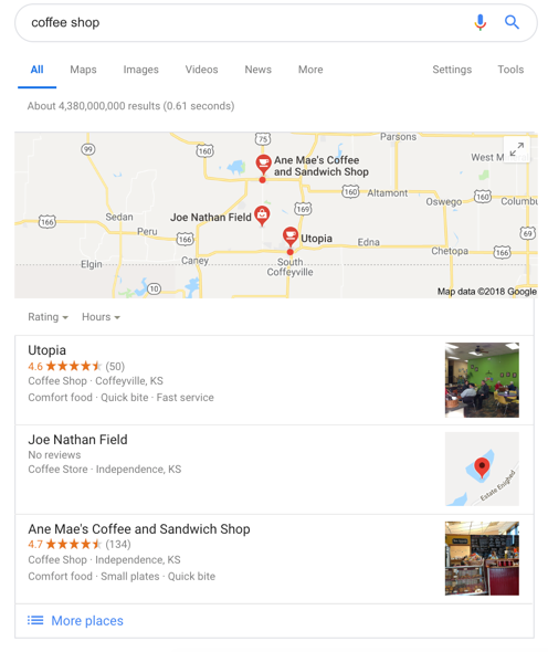 Business Listing in Google Search
