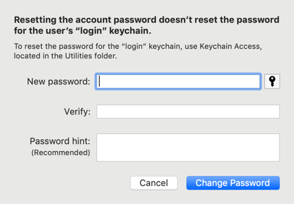 Change Password of Another Account