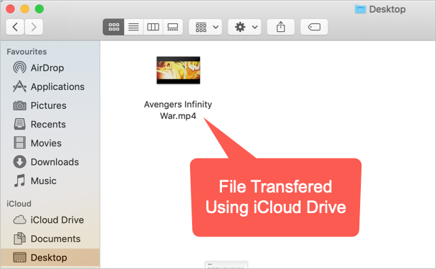 Check Transferred File in Mac iCloud Drive