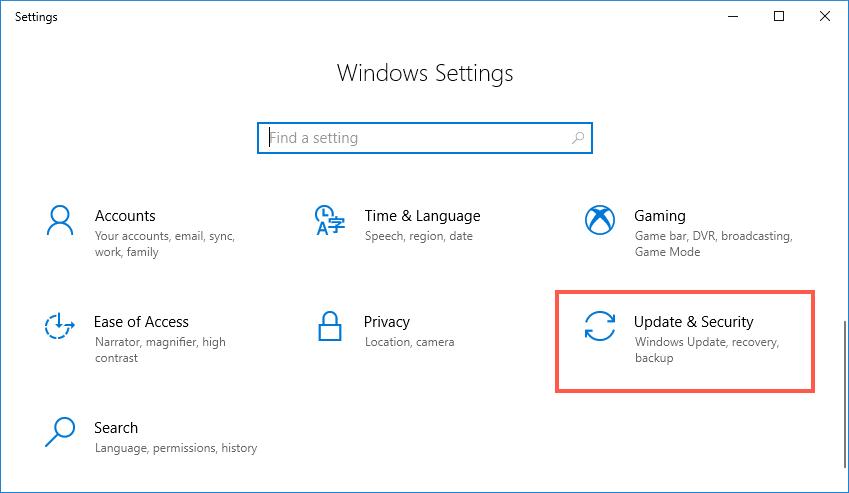 Check Windows Update Settings