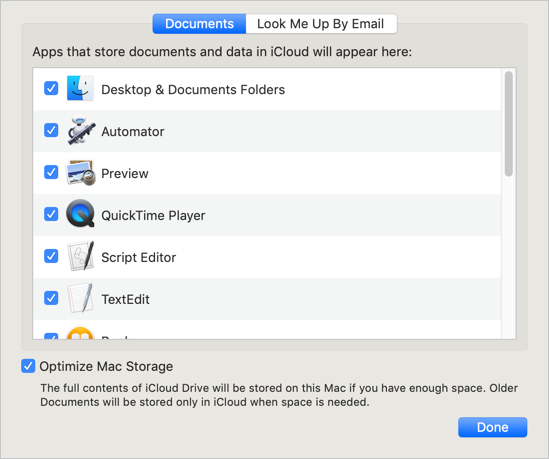 Choose Content for iCloud Backup