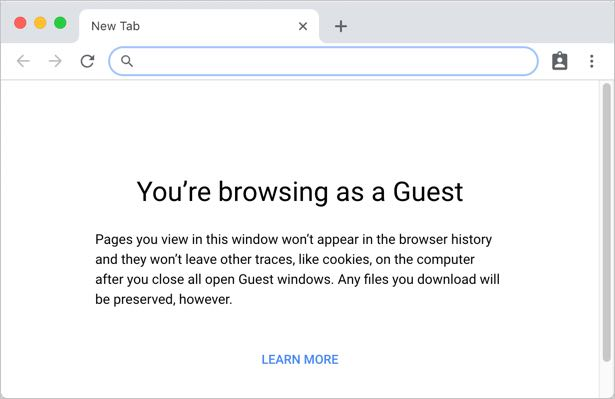 Chrome Guest Account Mode