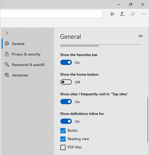 Customize Edge Toolbars