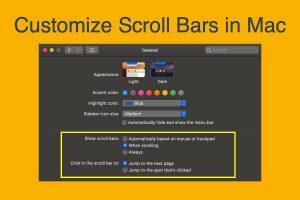 Customize Scroll Bars in Mac