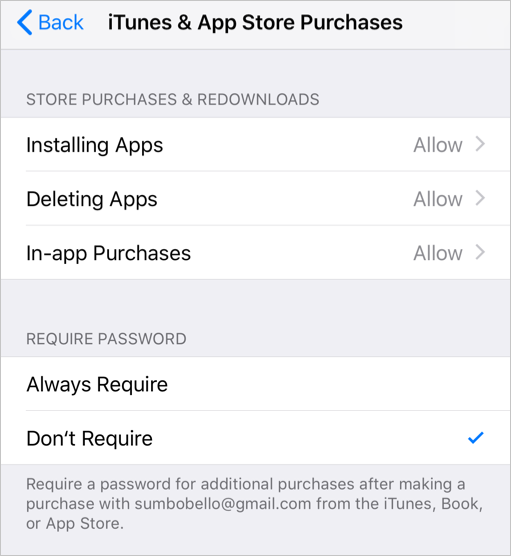 Disable App Purchase