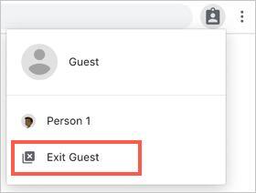 Exit Guest Menu in Chrome