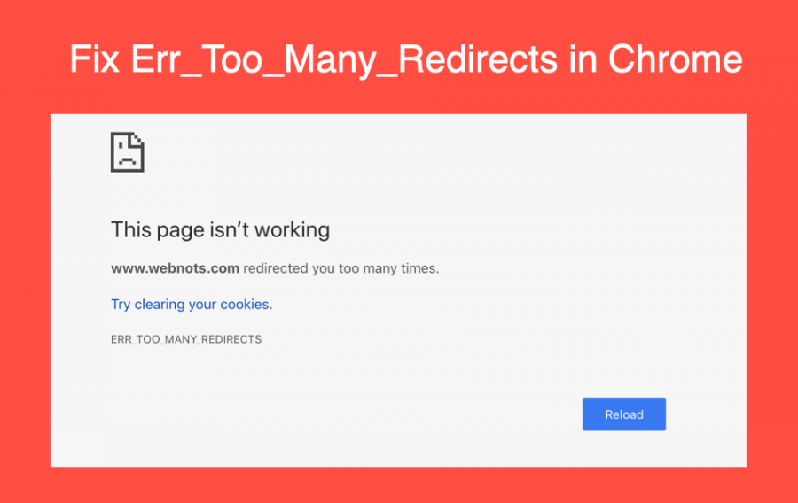 How to Fix Error Too Many Redirects in Google Chrome?