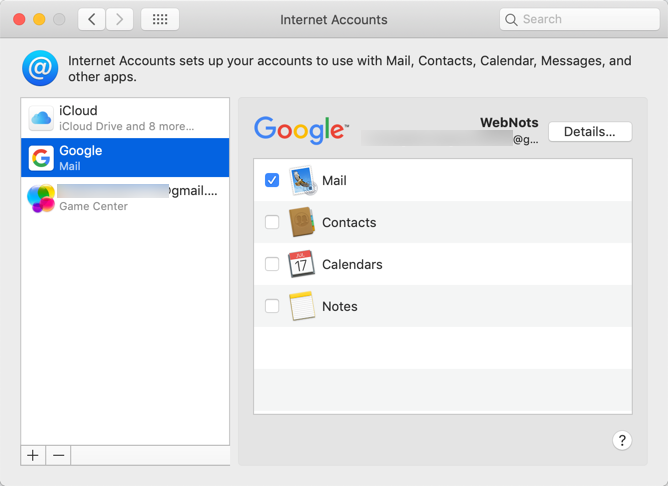Gmail Successfully Added in Mail App