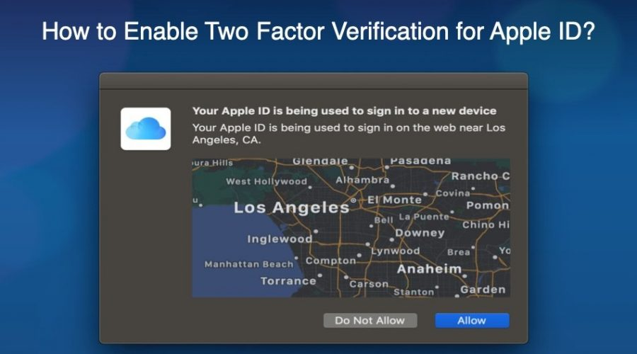 How to Enable Two Factor Authentication for Apple ID?