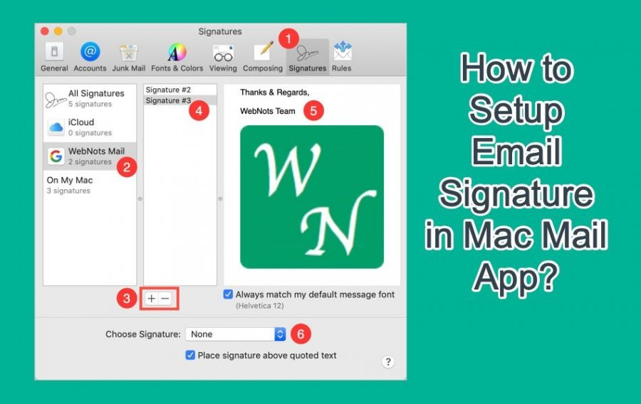 How to Add Email Signature in Mac Mail App?