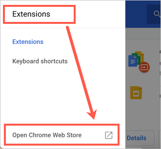 Open Chrome Web Store