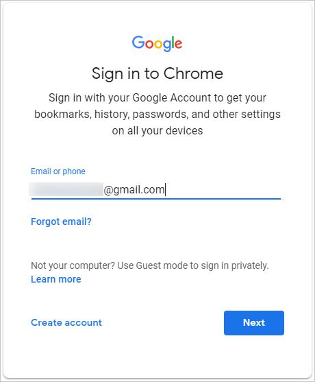 Sign Into Chrome