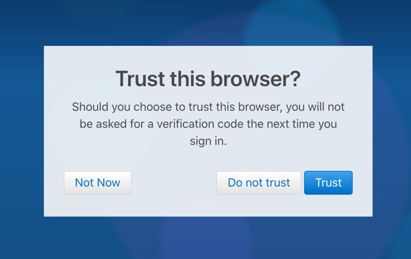 Trust Browser for Accessing iCloud