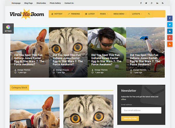 Viral Ka Boom WordPress Theme