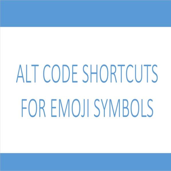 Alt Code Emoji Shortcuts