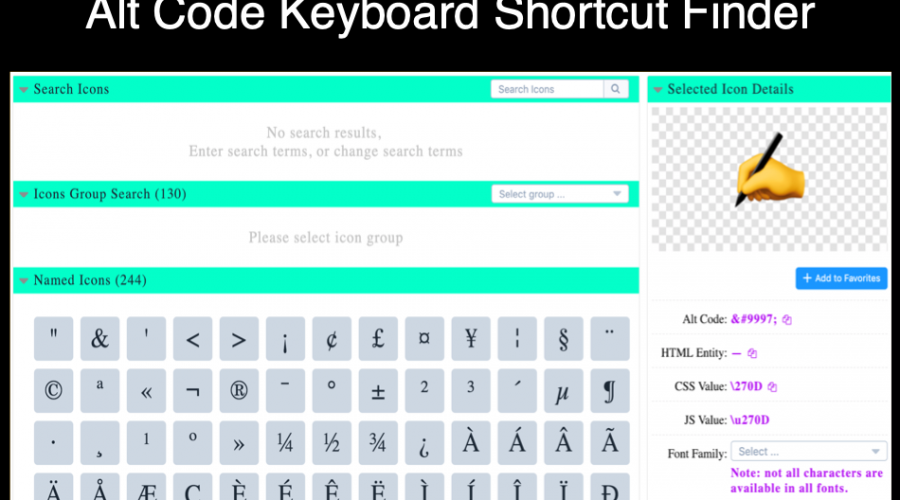 How to Find Alt Code Keyboard Shortcut for Any Symbol?