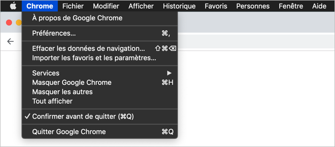 Chrome in French Language in Mac