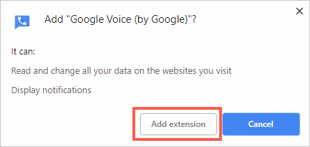 Confirm Adding Extension