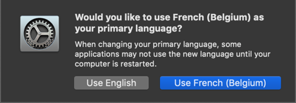 Confirming Primary Language in Mac