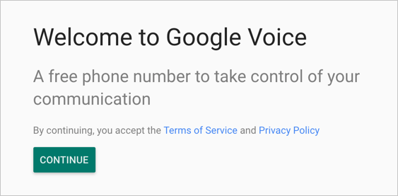 Create Google Voice Number