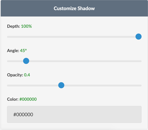 Customize Shadow