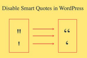 Disable Smart Quotes in WordPress